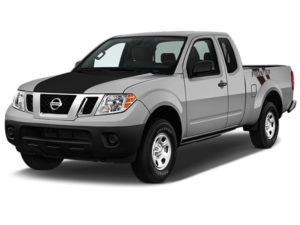 Nissan Frontier Black Hood Cowl with Black Frontier Dual Diagonal Stripe