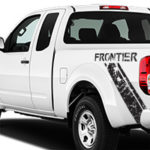 Nissan Frontier Distressed Diagonal Stripe - Black