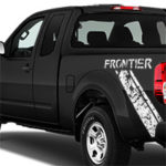 Nissan Frontier Distressed Diagonal Stripe - White