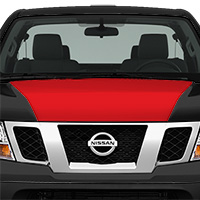 Nissan Frontier Hood Cowl - Gloss Red