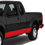 Nissan Frontier Lower Side Stripe - Gloss Red