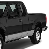 Nissan Frontier Lower Side Stripe - Gloss Silver
