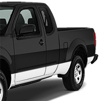 Nissan Frontier Lower Side Stripe - Gloss White