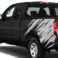 Nissan Frontier Shredder Graphic - Gloss Silver