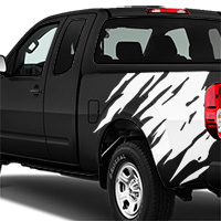 Nissan Frontier Shredder Graphic - Gloss White