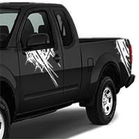 Nissan Frontier Splatter Graphic - White